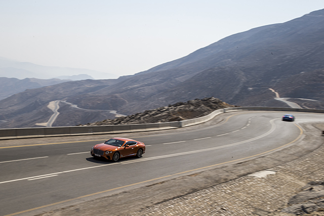 Bentley Continental GT on Road to Jebel Jais