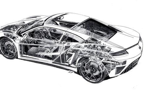 Honda NSX Sketch