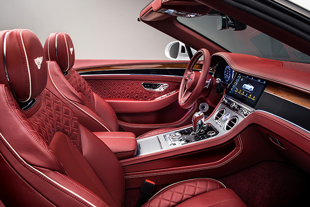 Interior of New Bentley Continental GT Convertible