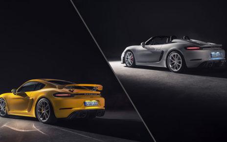 Porsche 718 Spyder and 718 Cayman GT4