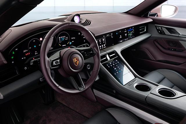 Interior of Porsche Taycan