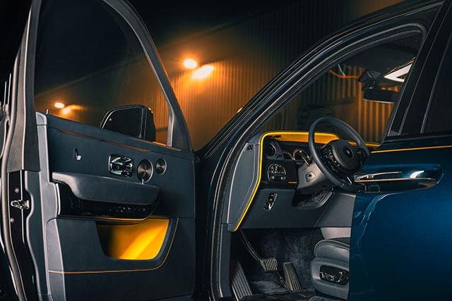 Interior of Rolls-Royce Black Badge Cullinan